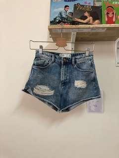 🚚 Zara 性感 辣妹 熱褲 牛仔短褲 23腰 古著 二手