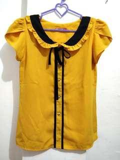 Atasan ribbon kuning