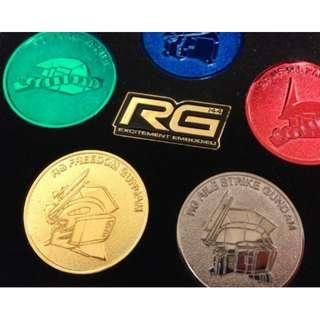 Limited Bandai Collector Item : 1st Edition Of RG Gundam Coins (Included The Box)