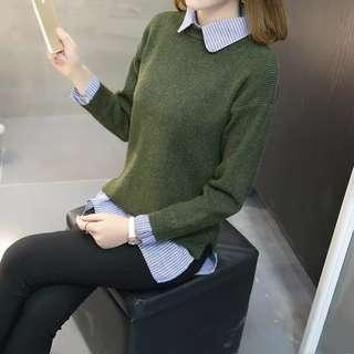 🚚 Duo Layer Green Shirt