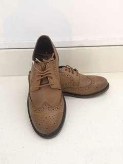Tan leather shoes for boys (US3/UK2/EU34.5)