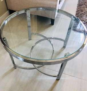 Round Tempered Glass  Center Table