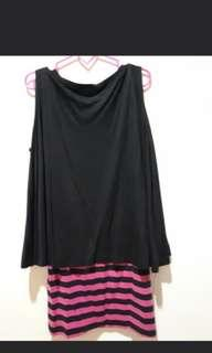 Dress spandex hitam