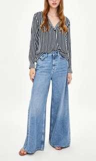 Zara crossover blouse
