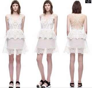 Crochet Lace Dress White