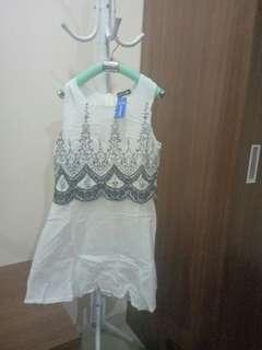 White Dress Bangkok BKK Bordir Import Embroidery