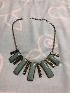Jade green statement necklace