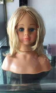 Doll hair styling