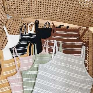 [PO] Ulzzang Knitted Stripe Spag #A007