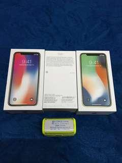 iPhone X 64GB Silver Space Grey Box & Accessories