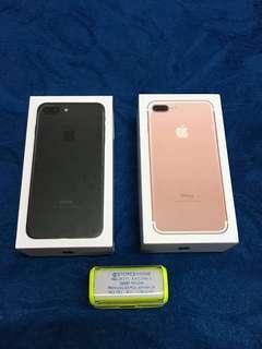 iPhone 7+ 128GB Black Rose Gold Box & Accessories