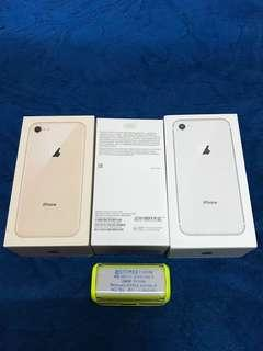 iPhone 8 64GB Silver Gold Box & Original Accessories