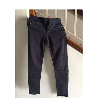 H&M NAVY LONG PANTS