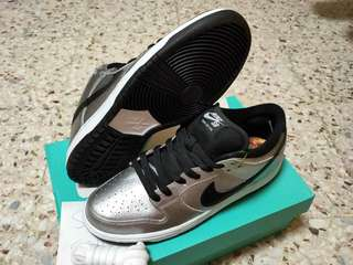 sports shoes 45bcd 303da DS US10 Nike SB Dunk Low Cold Pizza Skateboarding Silver