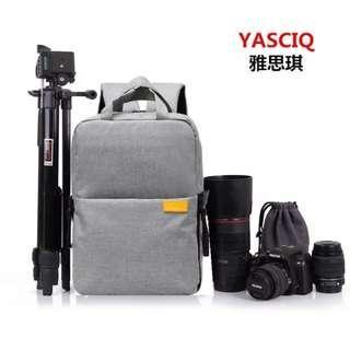 Authentic YASCIQ Multi-Functional Travel, Laptop & DSLR Camera Backpack 超輕便相機背包