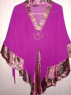 Kaftan Purple Jumbo Big Size