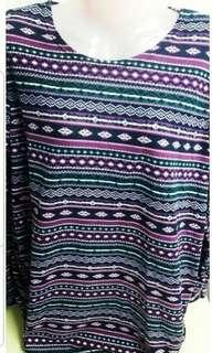 NEW STRETCHABLE WOMEN TOP - Purple Tribal