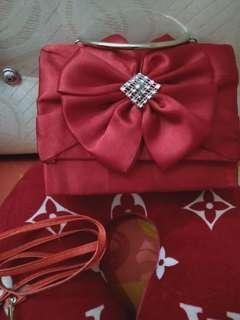 Tas Pesta Pita Merah Marron