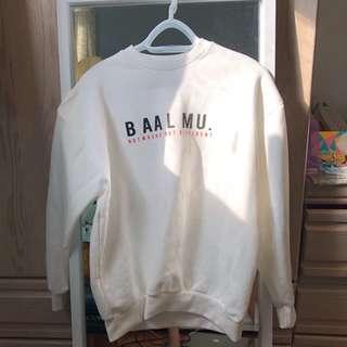 NEW white crewneck sweater