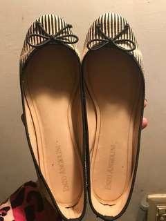 Enzo Angiolini 斑馬紋 真馬毛 芭蕾舞鞋 平底鞋 原價4000以上 只在地毯上走過 9成新 38號含運 已無鞋盒