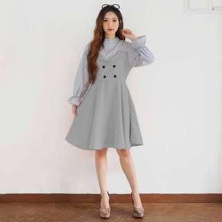 Baju Dress Korea abu