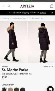 REDUCED Aritzia st.moritz parka jacket