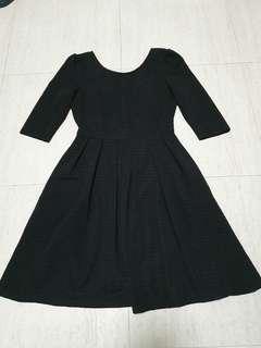 Love and bravery Black Babydoll Dress