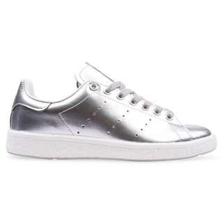Silver Adidas Stan Smith