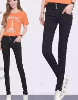 3buttons black skinny jeans