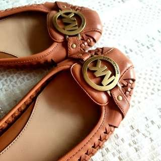 Genuine Michael Kors Weave-Leather Flat Shoes. Hardly used, Good Condition.  $88, WhatsApp 96337309.