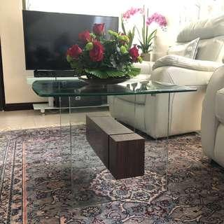 Space Saving Glass Center Table