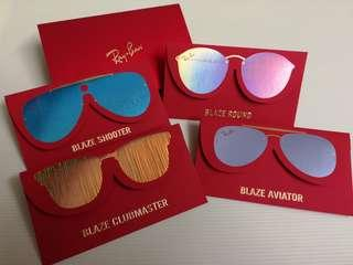 Ray Ban blaze red packet 4p set