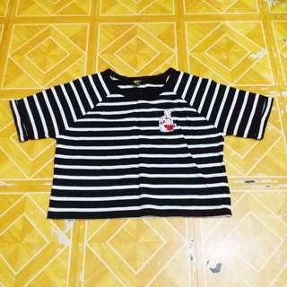 🎈SALE🎈F21 Hanging Semi-Cropped Stripes Top