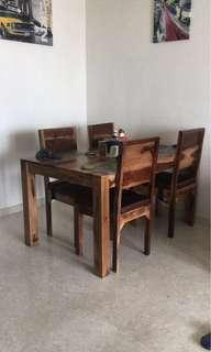 Solid wood dining table set FIRE SALE