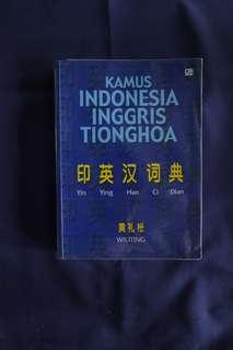 Kamus Indonesia-Inggris-Tionghua