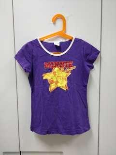 Purple mini mouse t shirt for kids