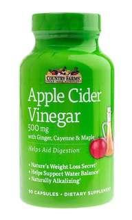 美國製造 蘋果醋丸 Country Farms Apple Cider Vinegar