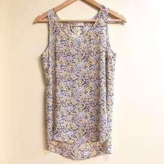 Vera & Lucy Sheer Floral Sleeveless Top