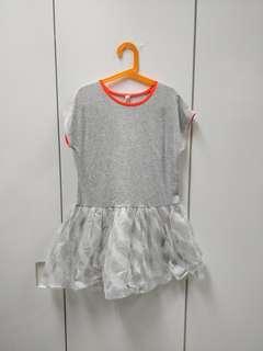Grey gliterry dress kids