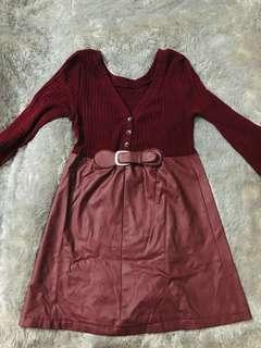 Maroon dress private collection