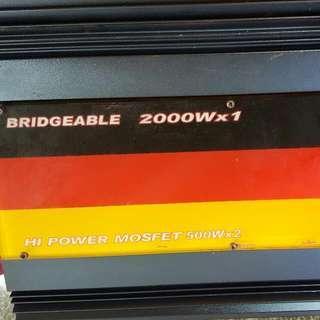 美國擴大機含12吋重低音 BRIDGEABLE--2000W×1
