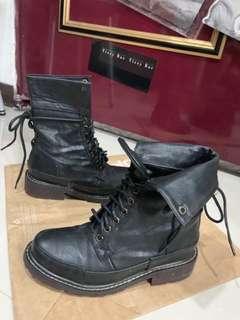 🚚 含運 Air space 個性綁帶中筒靴 軍靴 非 zara