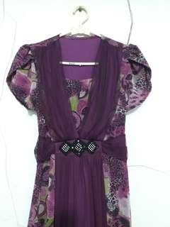 Mididress / Purple Dress / Gaun Pesta