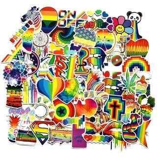 🚚 60pcs Rainbow Graffiti PVC Stickers
