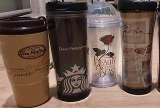 MARKED DOWN PRICES FOR FOUR COFFEE TUMBLERS/LimitedEdition Beauty&the Beast  Tumbler