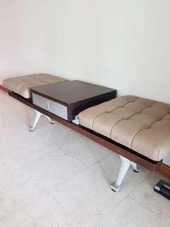 🚚 Cellini Leather Bench