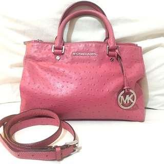 Authentic Michael Kors Ostrich Leather Two Way Bag