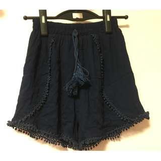 BNWOB Navy Shorts with Tassels
