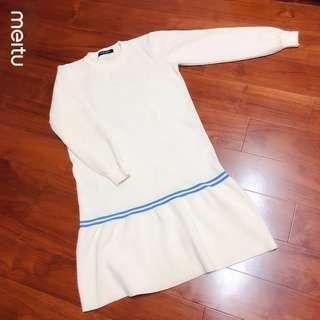 🚚 正韓學院風米色連身裙