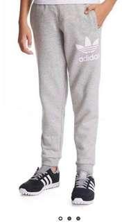 🚚 Adidas Fleece Joggers in Light Grey